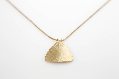 Etched Triangle Necklace