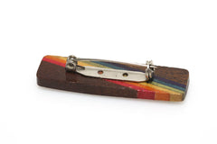 Wooden Rainbow Pin