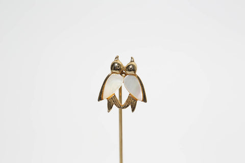 Mother of Pearl Bird Stick Pin