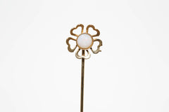 Opal Flower Stick Pin