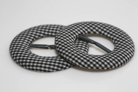Plaid Scarf Buckles
