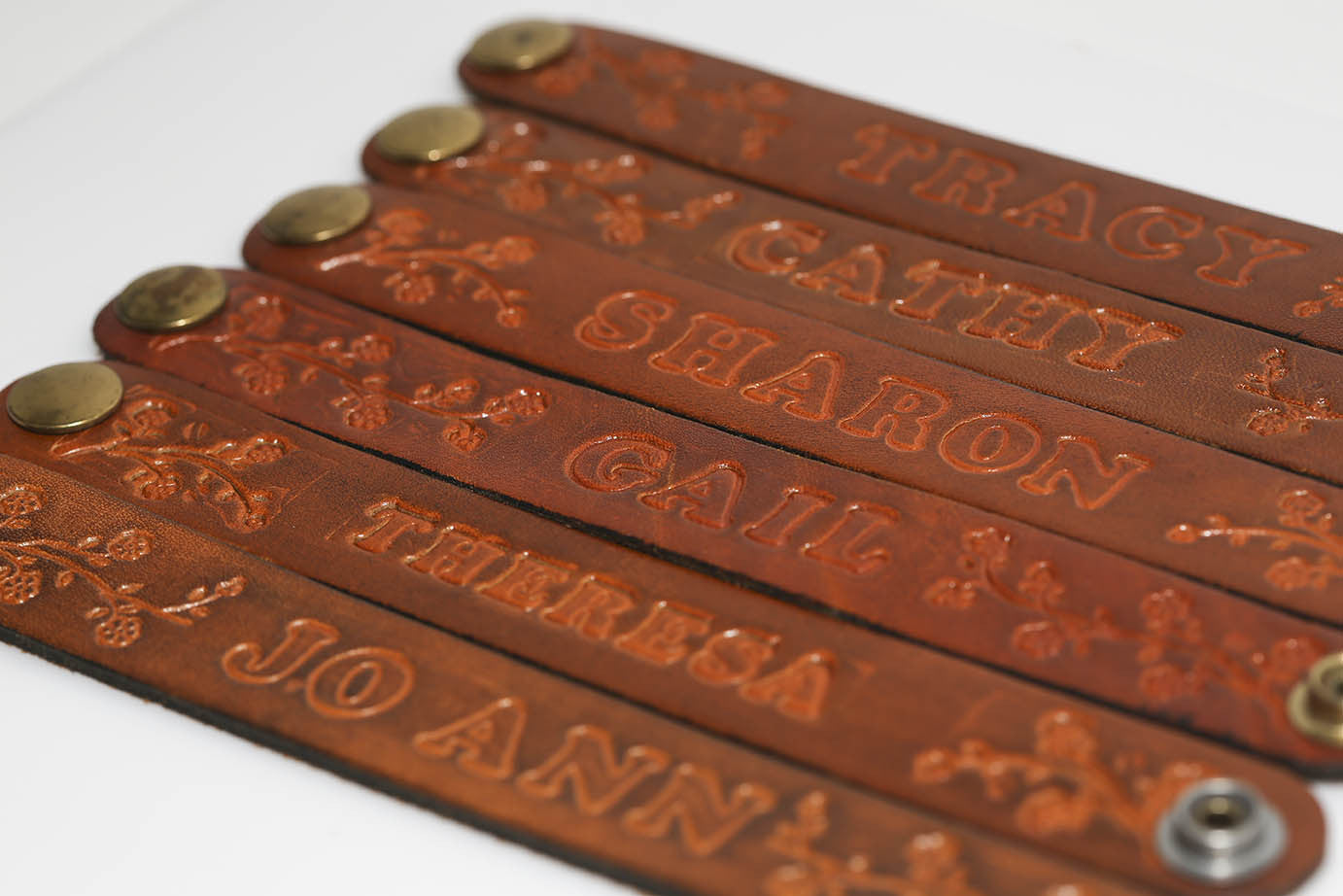 Genuine Leather Name Bracelets