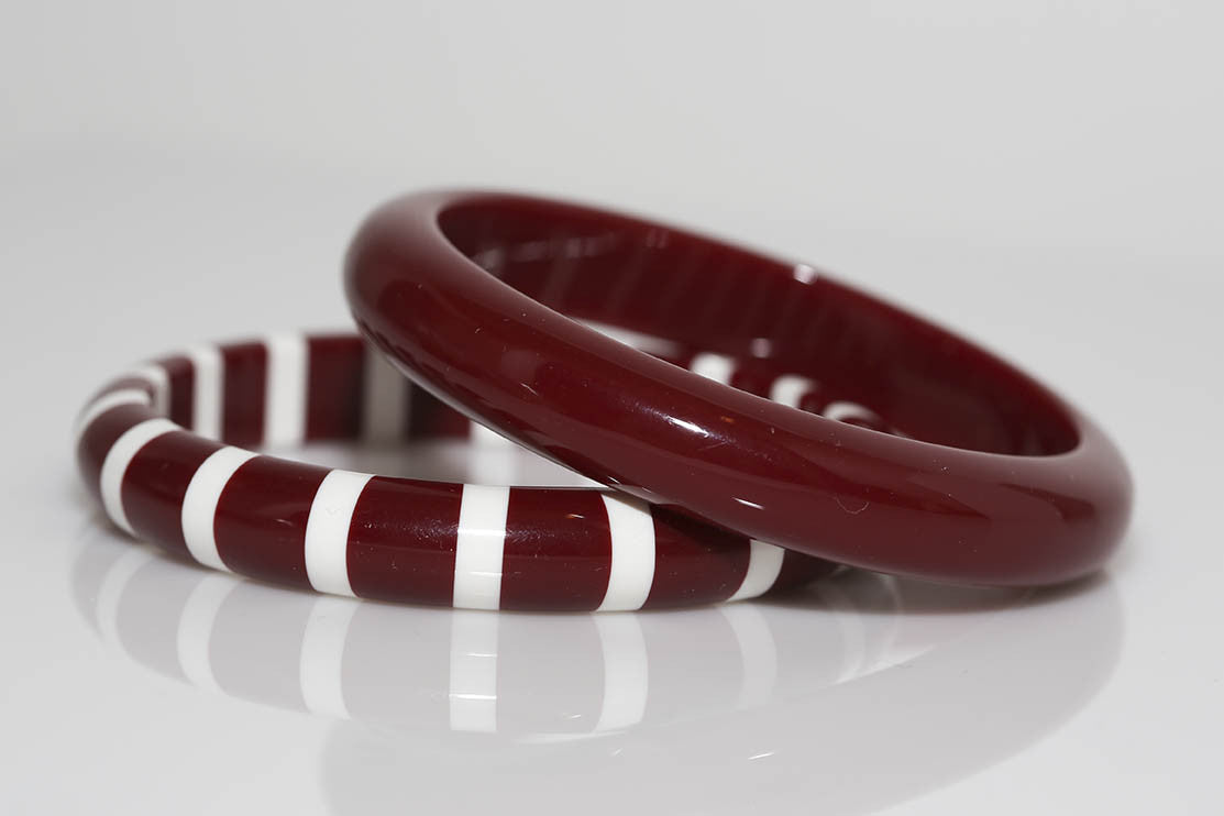 Solids and Stripes in Cranberry
