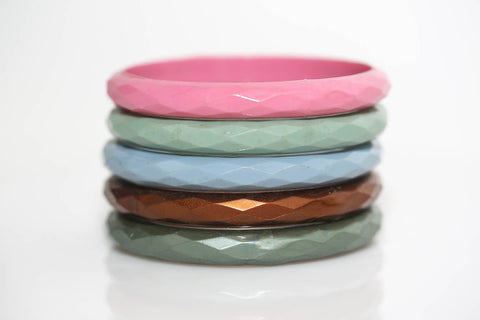Faceted Bangles