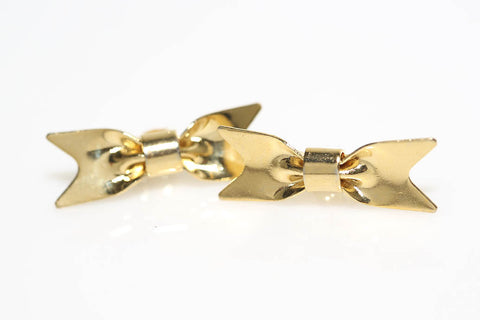 Bow Earrings in Gold