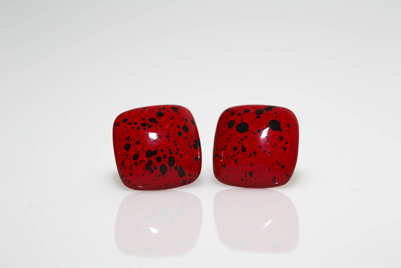 Red Splatter Earrings