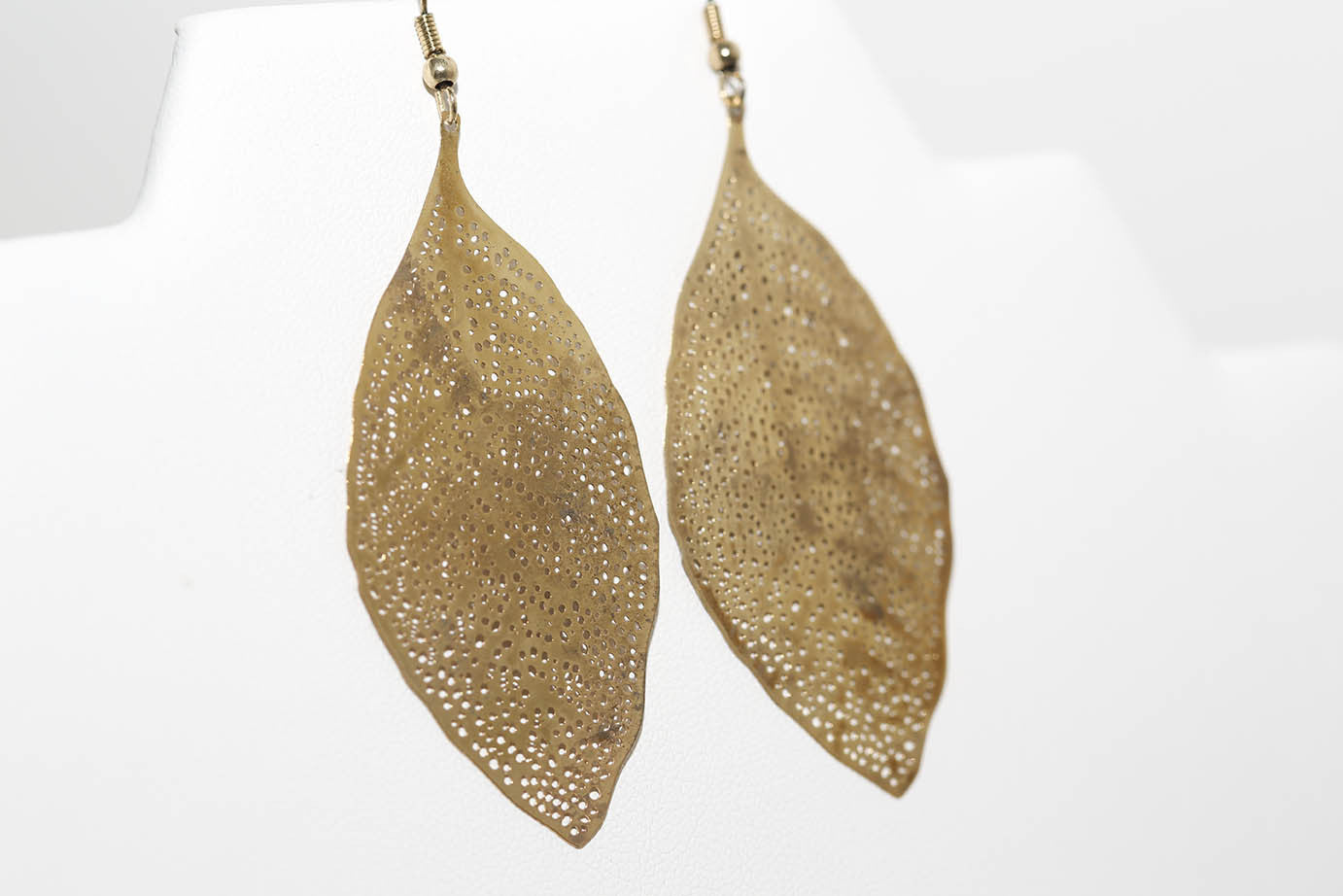 Laced Leaf Earrings