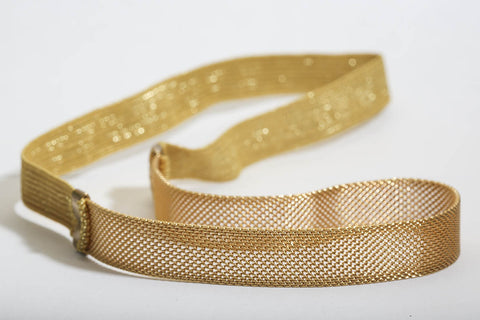 Gold Mesh Head Band