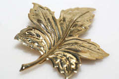 Large Gold Leaf Barrette