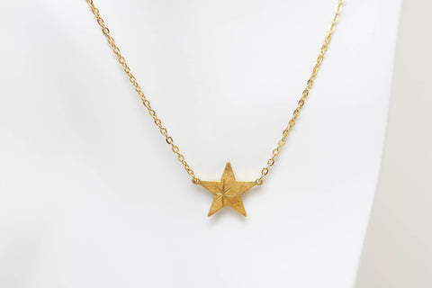 Starburst Star Necklace in Gold