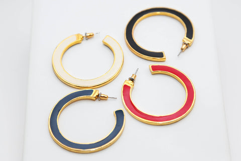 Reversible Enamel Hoops