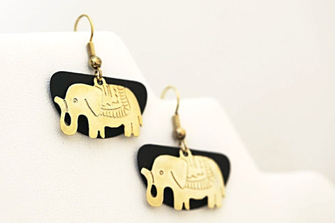 Black Gold Elephant