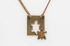 Cut Out Turtle Necklace