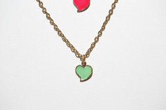 Colorful Enameled Hearts