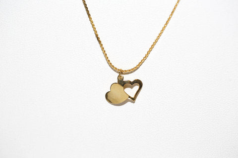 Concave Double Hearts In Gold
