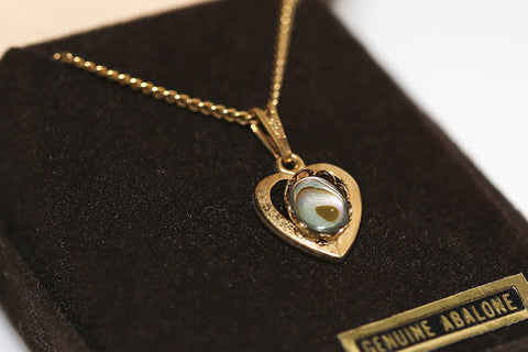 Abalone Heart In Gold