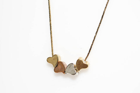 Mixed Metal Heart Necklace