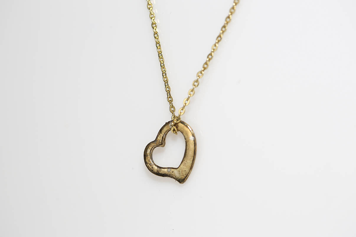 Vintage Open Heart Necklace