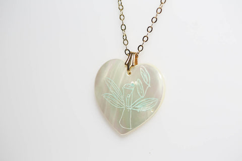 Bamboo Shell Heart