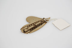 Gold Slanted Heart Barrette