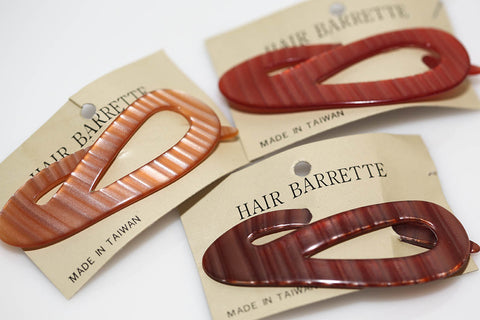 Laminated Hair Barrettes