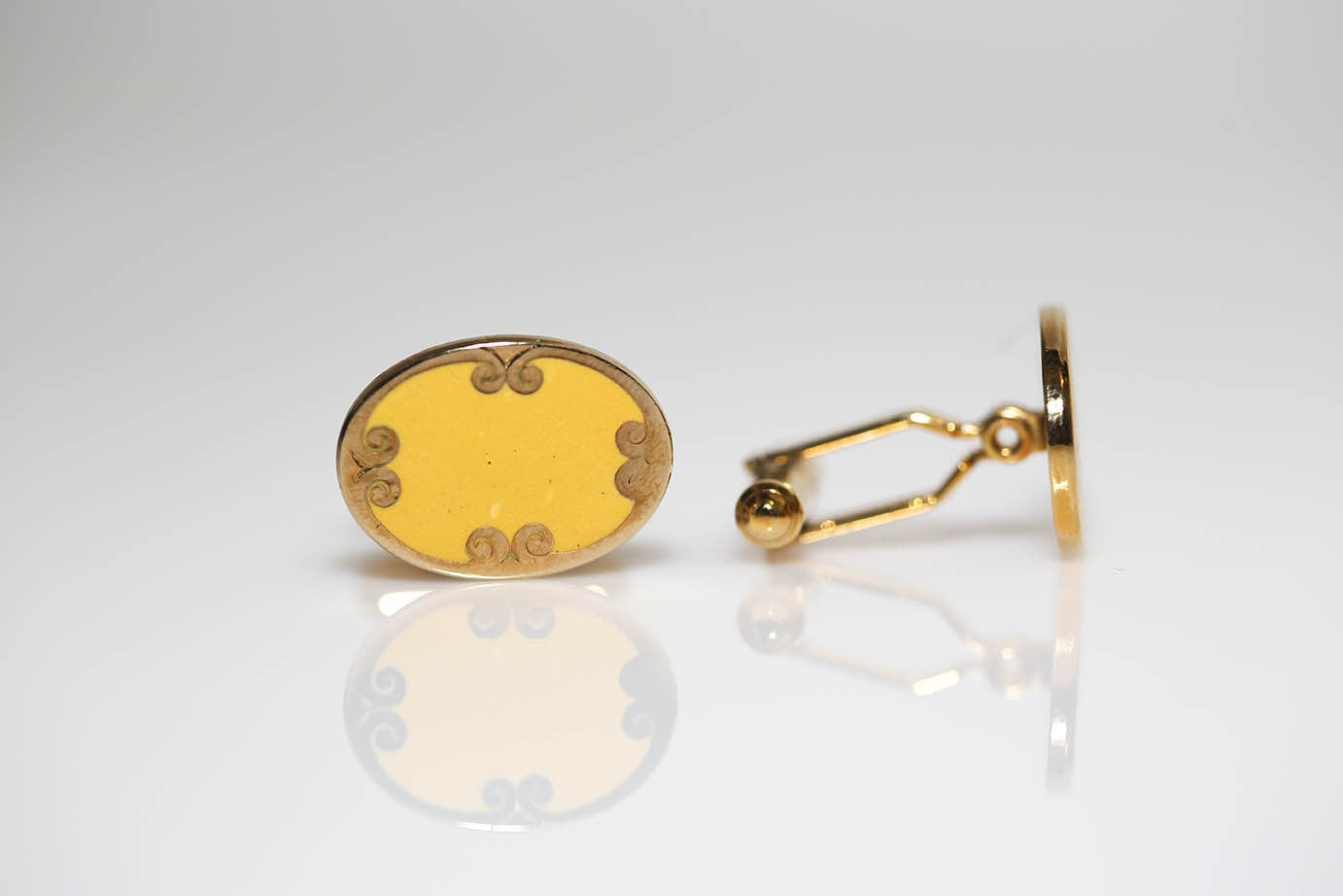 Yellow and Gold Cufflinks