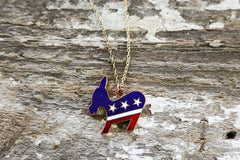 Political Democratic Donkey Necklace