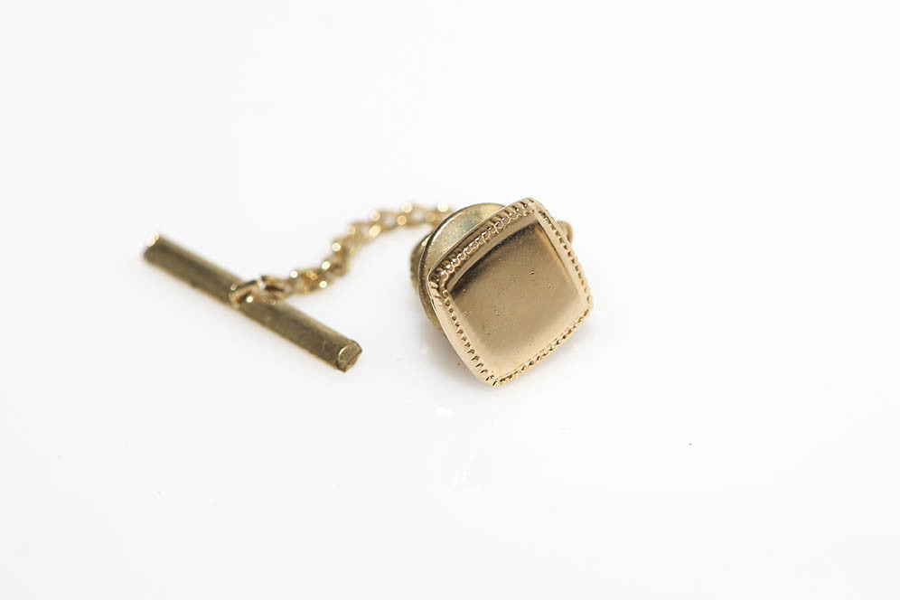 Square Border Tie Tack and Lapel Pin