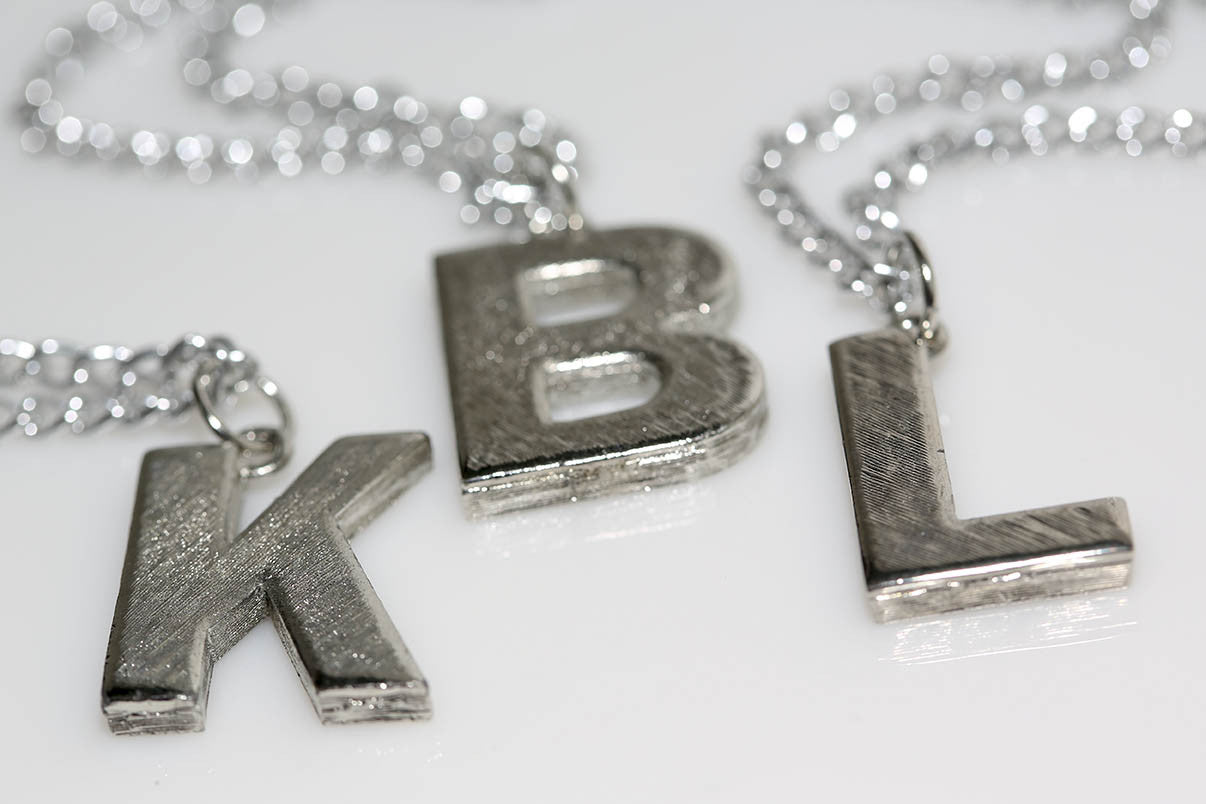 Silver Bling Initial Necklace