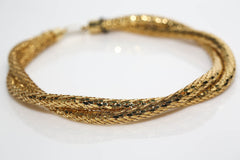 Gold Mesh Twist Necklace