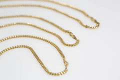 Mixed Metal Bar Chain Necklaces