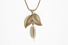 Frosted Triple Leaf Necklace