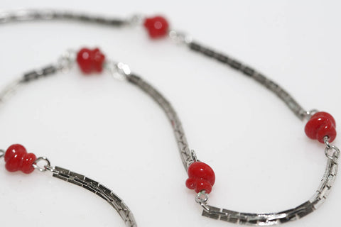 Emmons Red and Silver Necklace
