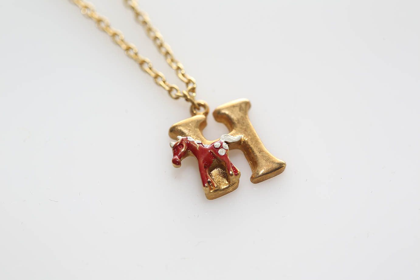 """H"" is for Horse Necklace"