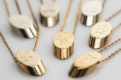 Initial Slice Necklaces