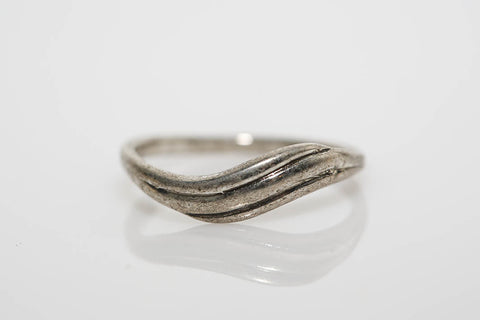 Antiqued Silver Twist Ring
