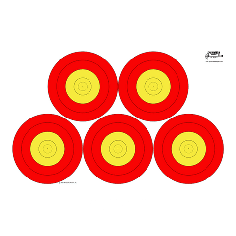 Vegas Style Paper Target-Dual Face-100 Pack