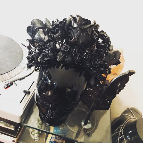 Black Floral Headdress