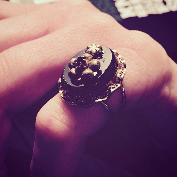 Floral Memento Ring
