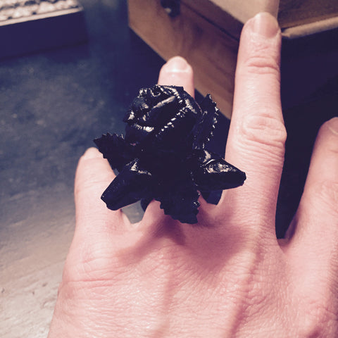 Black Bouquet Ring