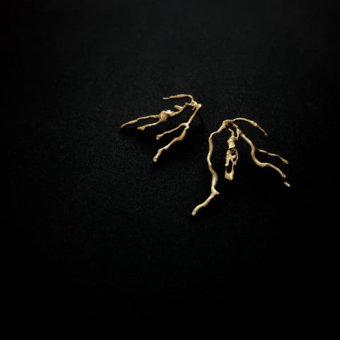 From the forest - root earrings