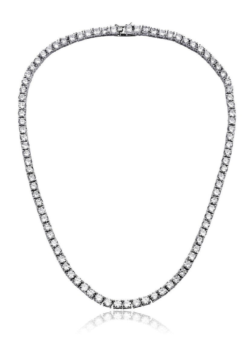 diamond necklace i tradesy platnium tennis graduated platinum other