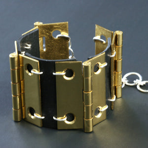 Brass hinge link bracelet - Amy Jewelry