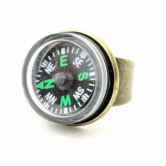 Brass compass ring