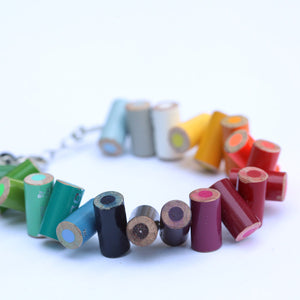 Colored pencil bracelet with extension - Amy Jewelry  - 1