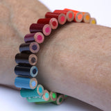Colored pencil bracelet with extension - Amy Jewelry  - 2