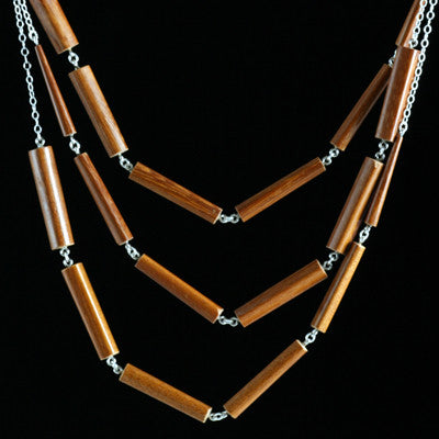Triple chopstick necklace