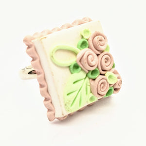 Pale pink dollhouse cake ring