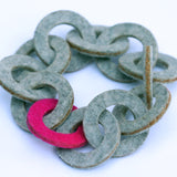 Small wool felt chain-link bracelet - Amy Jewelry  - 3