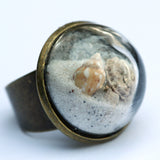 Large beach glass dome ring - Amy Jewelry  - 1